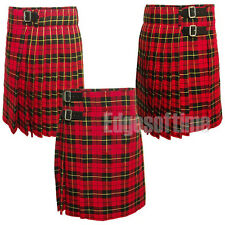 MENS SCOTTISH WALLACE TARTAN KILT SIZES FROM 30 TO 50 INCH