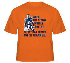 Tim Tebow Football Poetry Quote T Shirt