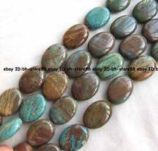 13x18mm 15x20mm 20x30mm blue multicolor Jasper flat oval Beads 16''