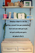 Changing a Diaper  Vinyl Wall Decal