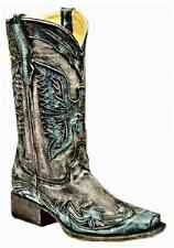 Corral Women's Genuine Leather Western Boots Turquoise/Black R2298 All Sizes
