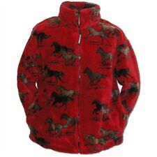 Child's Red Horses Black Mountain Horse Warm Fleece Jacket - New!!