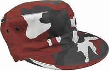 Urban Red Camouflage Army Baseball Cap- Camo Cotton Hat All Sizes