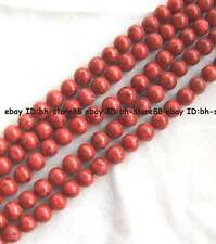 Red grass coral round loose Beads 16'' 6mm 8mm 10mm 12mm 14mm 16mm 18mm 20mm