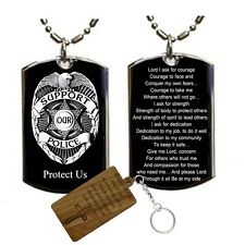 Police Policeman Prayer-Your Protection -Medal Pendant Necklace