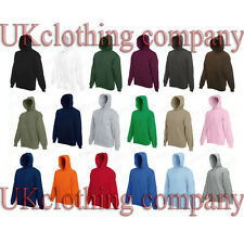 Fruit of the Loom Hooded Sweatshirt - Plain Hoodie Blank Pullover Hoody