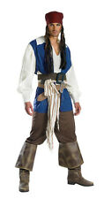 PIRATES OF THE CARRIBEAN CAPTAIN JACK SPARROW QUALITY TEEN ADULT MENS COSTUME