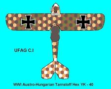 1/144 Decals WWI Austro-Hungarian Hex Lozenge - NEW Patterns YK-40