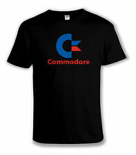 COMMODORE COMPUTER T-SHIRT - Cool Retro 80s Video Games / PC Gamer BLACK TEE