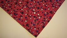 Dog Bandana/Scarf Patriotic Stars Tie On/Slide On Custom Made by Linda  xS S M L
