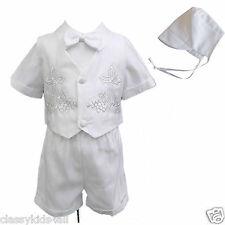 New Infant Toddler Boy Baptism Christening Suit Gown Outfit XS S M L XL 2T 3T 4T