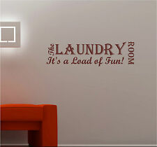 THE LAUNDRY ROOM wall art vinyl kitchen lounge QUOTE