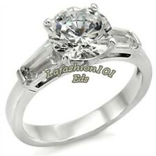 1.8ct Women's Popular 316L Stainless Steel Wedding/Engagement Ring SZ 5-10