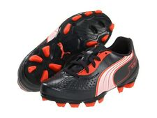Puma v5.11 FG Soccer Shoes Black-White-Red KIDS - YOUTH Brand New