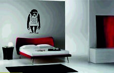 Monkey Laugh Now Vinyl Wall Sticker art decals large pic graphics banksy one day