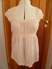 WAREHOUSE PRETTY CROCHET TOP WHITE PEACH LEMON YELLOW 6 10 12 16 BNWT