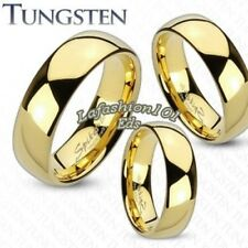 Classic Tungsten Gold IP Mirror Polished Mens/Womens Wedding Band Ring SZ 5-13