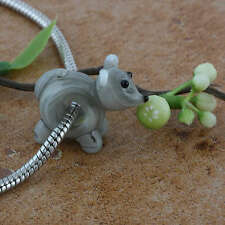 Animal Murano Lampwork Glass Big Hole Loose Charm European Beads Fit Bracelet