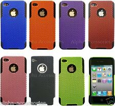 Hard Mesh Net Perforated Silicone Case Cover Skin For iPhone 4S , 4, 4G + SP
