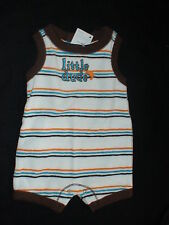 NWT GYMBOREE LITTLE SURFER DUDE STRIPE CRAB TERRYCLOTH ONE PIECE ROMPER OUTFIT