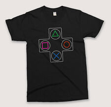 PLAYSTATION 3 / PS2 CONSOLE CONTROLLER T-SHIRT - C64 Video Games Computer Gaming