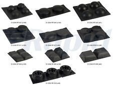Affix Black Adhesive Rubber Feet Fixings on Sheets (Select Size when Buying)