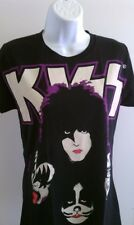 KISS WOMENS T-SHIRT ROCK BAND RARE NEW BLACK T-SHIRT SM MED LG XL