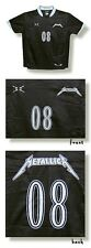 "METALLICA SOCCER JERSEY SHIRT ""08"" Black Authentic NEW"