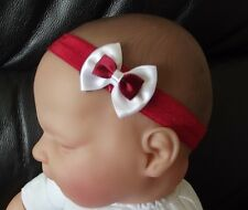 BABY/REBORN DOLL RED OR BLACK DOUBLE BOW HEADBAND