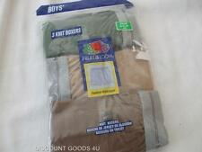 NEW 3 PAIR Fruit Of The Loom Boys Knit Boxer  BOY'S SIZE  6/8 Fashion Waistband