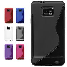 Colour Gel Silicone Case Cover for Samsung Galaxy S2 i9100 + Screen Protector