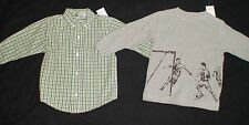 NWT GYMBOREE SOCCER STAR GREEN PLAID BUTTON DOWN GRAY PLAYERS TOPS FALL
