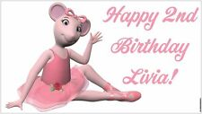 NOW $29.95!! Angelina Ballerina Birthday Party Banner Decorations - Child's Name