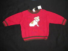 NWT GYMBOREE EMPIRE STATE EXPRESS FURRY DOG TIE RED HOLIDAY CHRISTMAS SWEATER