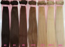 "20"" RARE! DELUXE SET CLIP ON HUMAN HAIR EXTENSIONS 260 GRAMS BLONDE BROWN BLACK"