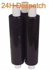 """1 2 3 6 12 18 24 x  STRONG EXTENDED CORE BLACK PALLET STRETCH WRAP 400mm 16"""""""