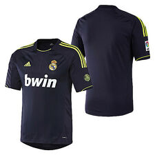 adidas REAL MADRID 2012-2013 Away Soccer Jersey Navy Blue - Neon Brand New