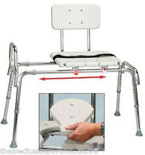 Eagle Healthcare Snap N Save Sliding Transfer Bench w/Replaceable Cut Out Seat