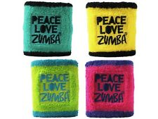 NEW Zumba Fitness Peace Love Zumba SWEATBANDS WRISTBANDS - SET OF 2 - YOU PICK!