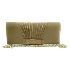 Evening Bag Pewter & Khaki Color with Satin Design