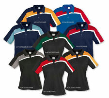 Kids Velocity Polo Shirt Top Boys Girls Team Sports Auto Club Casual Size 4-16
