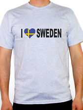 I Love Sweden T-Shirt - Mens - Various Sizes and Colours