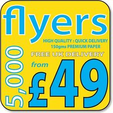 A4, A5, A6 or DL Printed full Colour leaflets / flyers on Premium 150gms Gloss