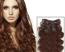 CLIP ON THICK WAVY HAIR EXTENSIONS ALL LENGTHS COLOR #33 BODY BLING 250 GRAMS