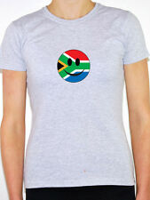 South Africa Flag in Smiley Face - Womens T-Shirt - Various Sizes and Colours