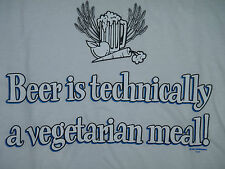 Beer is Technically a Vegetarian Meal T-Shirt Wht or Pnk/Mens Womens or Juniors