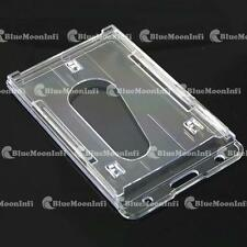 1 5 10 X Plastic Card Holder ID Card badge business hard clear Vertical CSA004