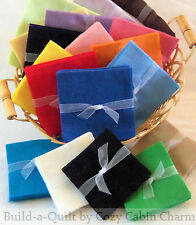 Solid FLANNEL Quilt Fabric Squares*Pick size/color/quantity from $4.99*FREE SHIP