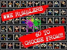 WWE Rumblers **** HUGE SELECTION TO CHOOSE FROM *** BRAND NEW (Mattel)
