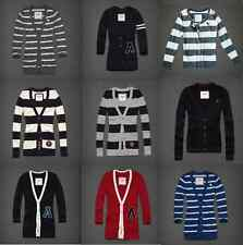 NWT Abercrombie & Fitch Hollister Striped Varsity Cardigan Sweater sz XS S M